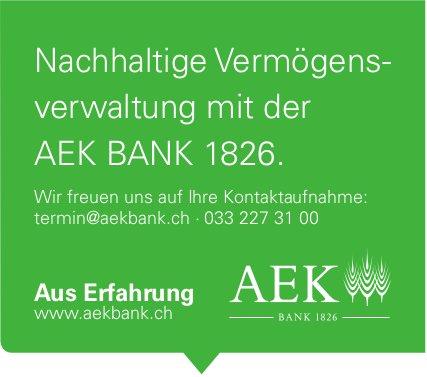 Nachhaltige Vermögensverwaltung mit der AEK BANK