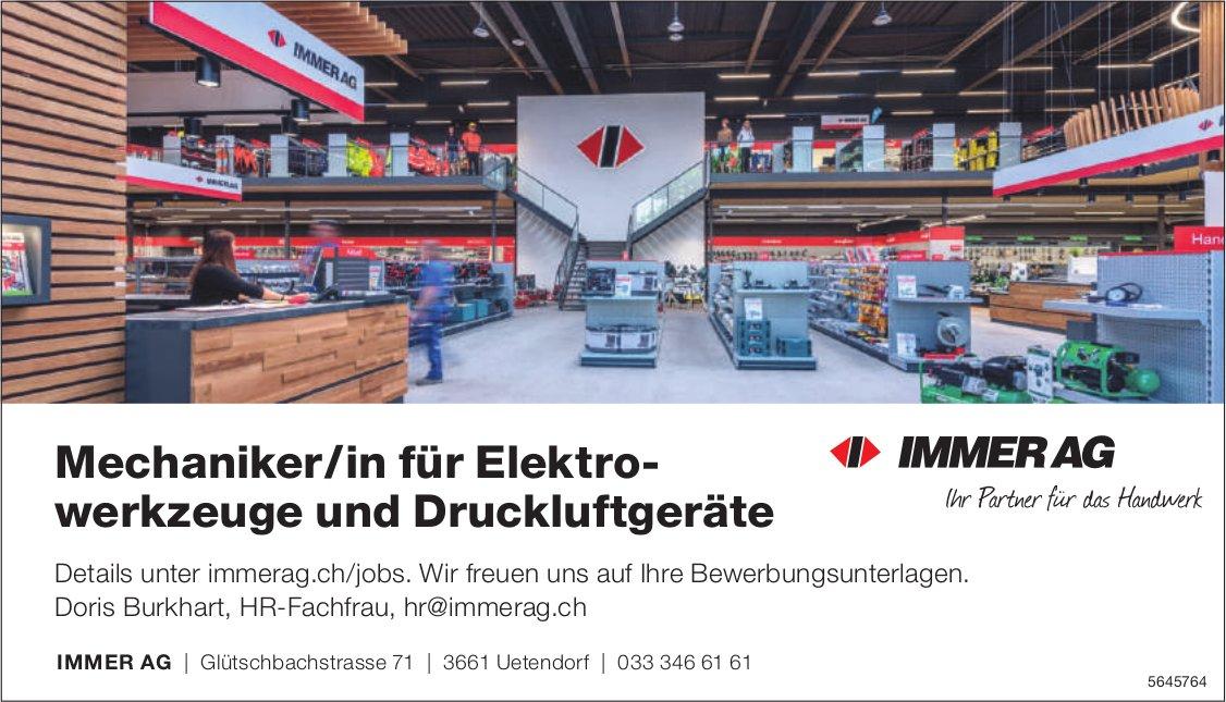 Mechaniker/in für Elektrowerkzeuge und Druckluftgeräte, IMMER AG, gesucht