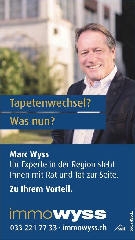ImmoWyss - Tapetenwechsel? Was nun? Marc Wyss zu Ihrem Vorteil.