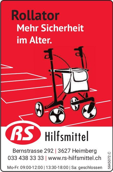 RS Hilfsmittel, Heimberg - Rollator: Mehr Sicherheit im Alter.