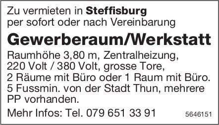 Gewerberaum/Werkstatt, Steffisburg, zu vermieten