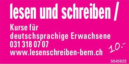 Lesen und schreiben / Kurse für deutschsprachige Erwachsene