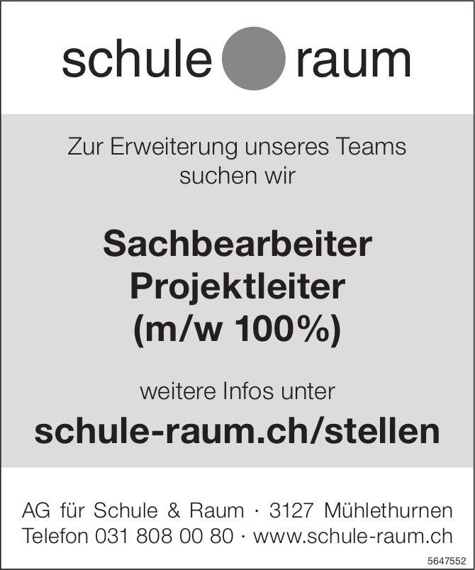 Sachbearbeiter Projektleiter (m/w 100%), AG für Schule & Raum, Mühlethurnen,  gesucht