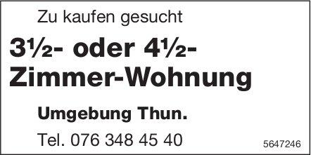 3½- oder 4½- Zimmer-Wohnung Umgebung Thun, zu kaufen gesucht
