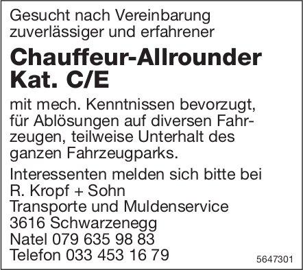 Chauffeur-Allrounder Kat. C/E, R. Kropf + Sohn,  Transporte und Muldenservice, Schwarzenegg, gesucht