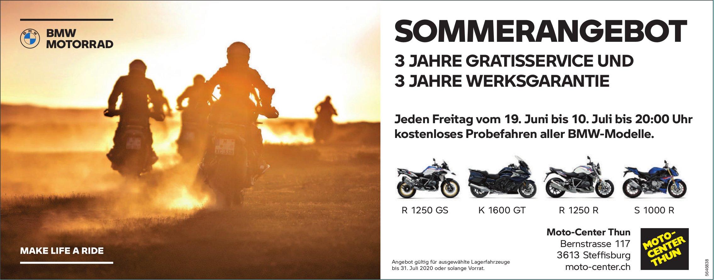 Sommerangebot, 19. Juni, Moto-Center Thun, Steffisburg,