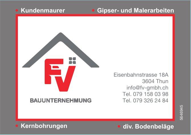 FV Bauunternehmung, Thun - Kundenmaurer,  Gipser- und Malerarbeiten usw.