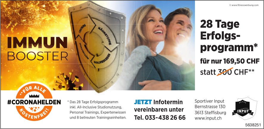 Sportiver Input, Steffisburg - Immun Booster, 28 Tage Erfolgsprogramm*