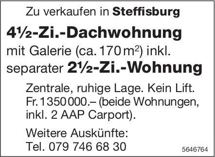 4.5-Zimmer-Dachwohnung, inkl. separater 2.5-Zi.-Wohnung, Steffisburg, zu verkaufen