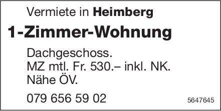 1-Zimmer-Wohnung, Heimberg, zu vermieten
