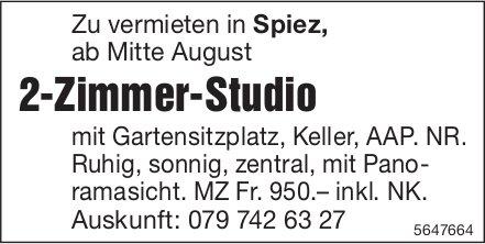 2-Zimmer-Studio, Spiez, zu vermieten