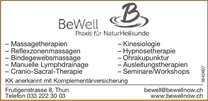 BeWell, Thun - Praxis für NaturHeilkunde
