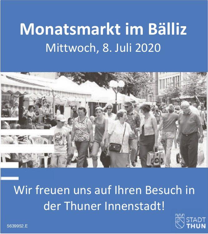Monatsmarkt im Bälliz, 8. Juli, Stadt Thun