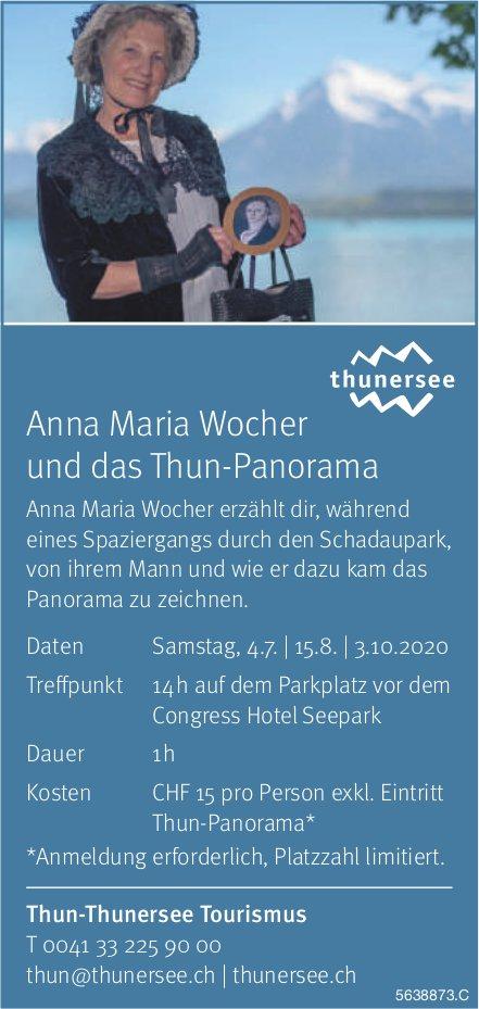 Anna Maria Wocher und das Thun-Panorama - Thun-Thunersee Tourismus