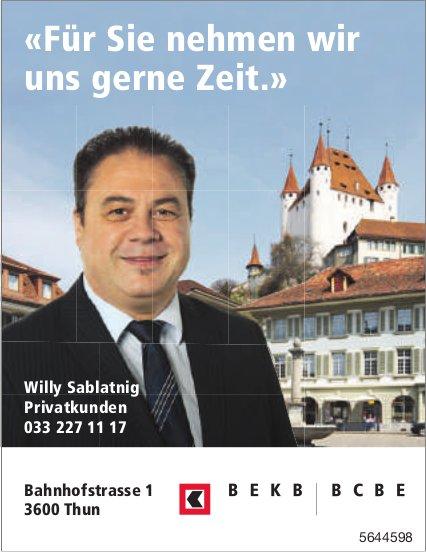 BEKB, Thun - «Für Sie nehmen wir uns gerne Zeit.»