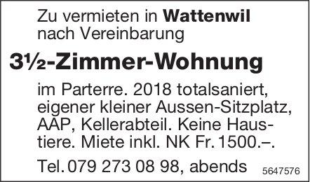 3½-Zimmer-Wohnung, Wattenwil, zu vermieten