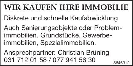 Christian Brüning - Wir kaufen Ihre Immobilie