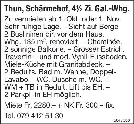 4.5 Zimmer-Galerie-Wohnung, Thun, zu vermieten