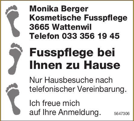 Monika Berger Kosmetische Fusspflege, Wattenwil - Fusspflege bei Ihnen zu Hause