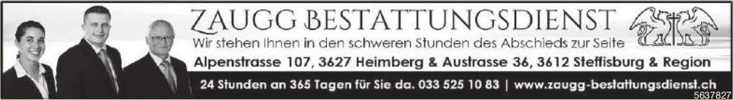 Zaugg Bestattungsdienst, Heimberg - Wir stehen Ihnen in den schweren Stunden des Abschieds zur Seite