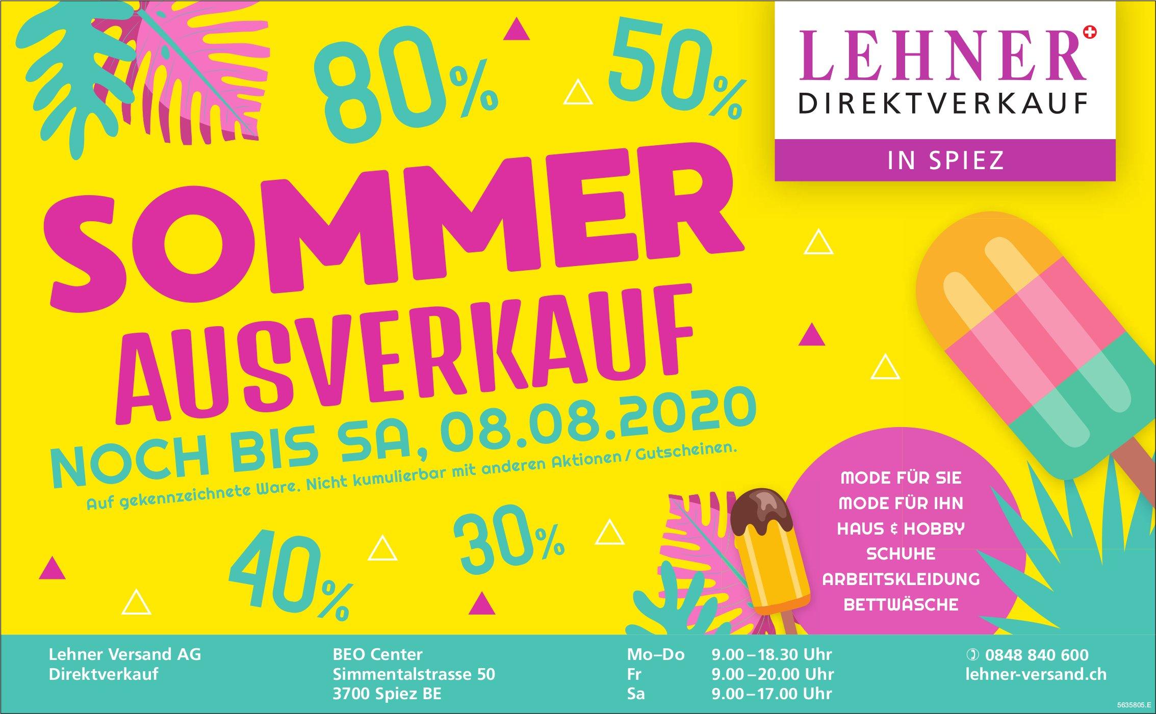 Sommer Ausverkauf - Lehner Direktverkauf in Spiez