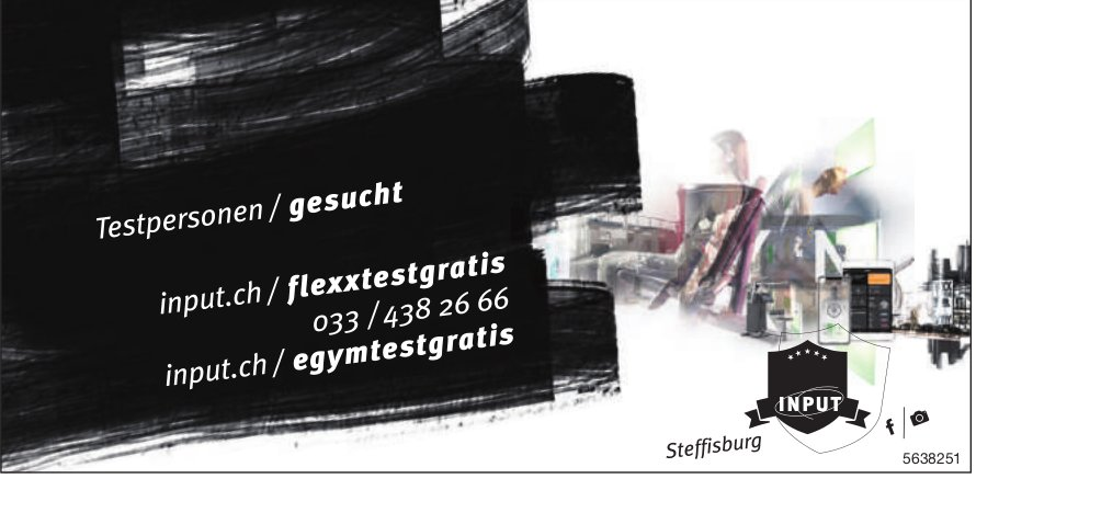 Testpersonen gesucht, Sportiver Input, Steffisburg