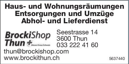 BrockiShop Thun, Thun - Haus- und Wohnungsräumungen,