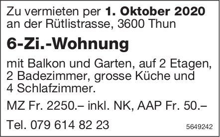 6-Zi.-Wohnung, Thun, zu vermieten