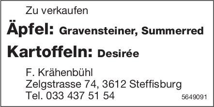 F. Krähenbühl, Steffisburg - Äpfel / Kartoffeln zu verkaufen