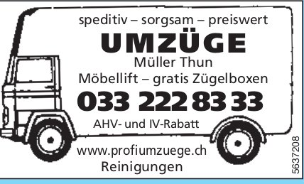 Müller Thun, Thun - Speditiv,  sorgsam,  preiswert Umzüge