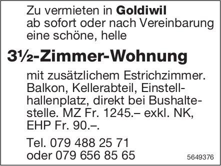 3½-Zimmer-Wohnung, Goldiwil, zu vermieten