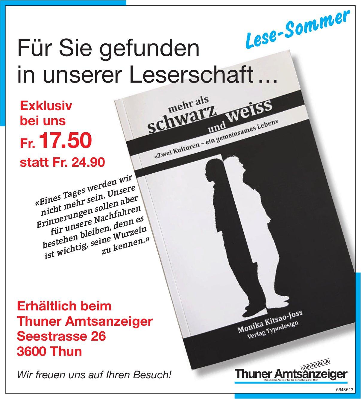 Thuner Amtsanzeiger, Thun - Für Sie gefunden in unserer Leserschaft ...