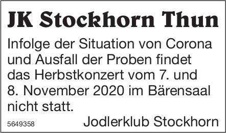 JK Stockhorn Thun - Herbstkonzert vom 7. und 8. November 2020 findet nicht statt