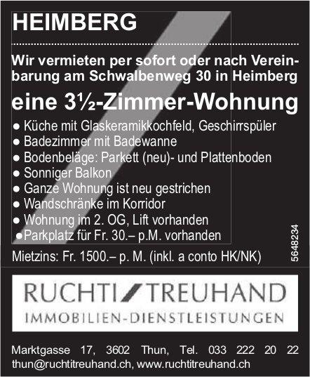 3½-Zimmer-Wohnung,Heimberg, zu vermieten