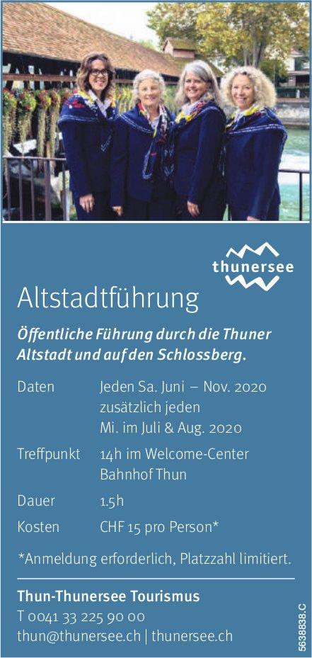 Thun-Thunersee Tourismus, Altstadtführung
