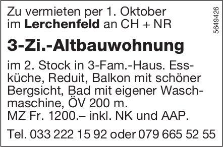 3-Zi.-Altbauwohnung, Lerchenfeld, zu vermieten