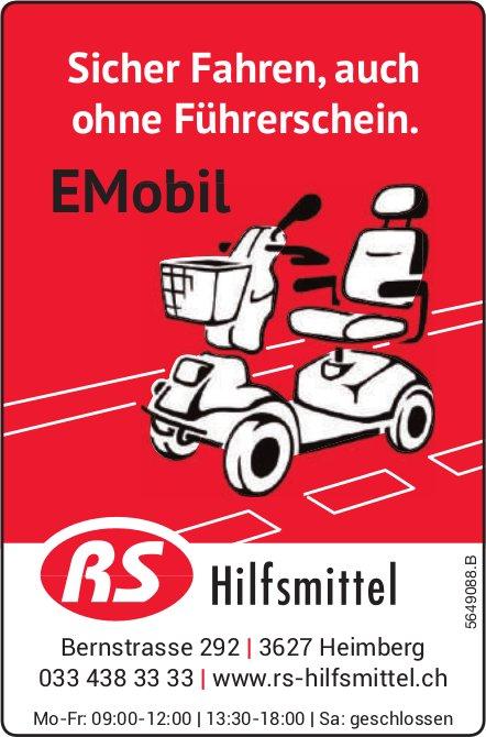 RS Hilfsmittel, Heimberg - Sicher Fahren,  auch ohne Führerschein. EMobil