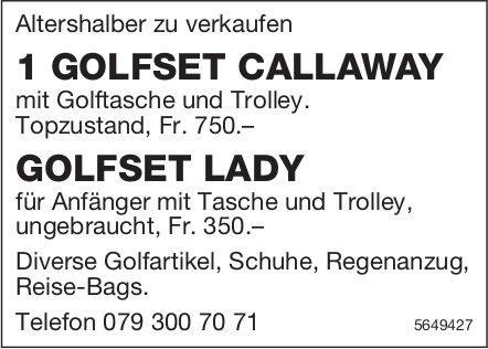 1 Golfset Callaway + Golfset Lady zu verkaufen
