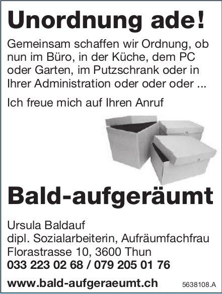 Thun - Unordnung ade!