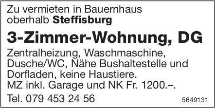 3-Zimmer-Wohnung, DG, Steffisburg, zu vermieten