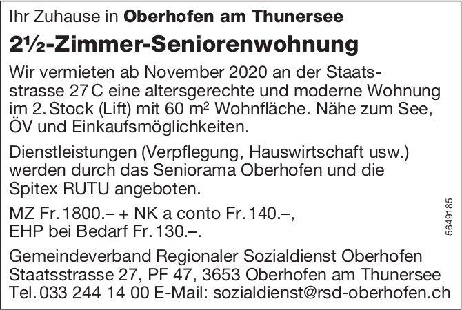 2½-Zimmer-Seniorenwohnung, Oberhofen am Thunersee, zu vermieten
