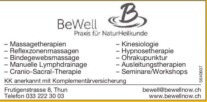 BeWell Praxis in Thun