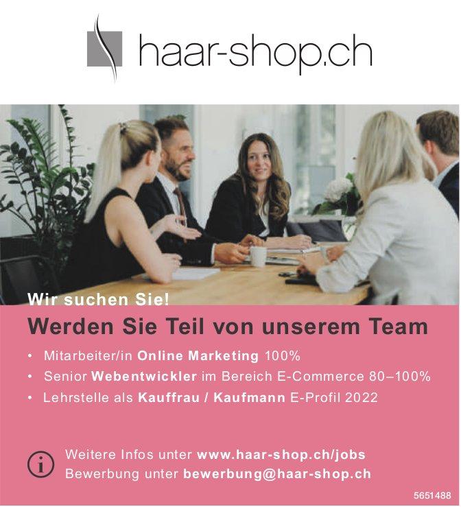 Werden Sie Teil von unserem Team, Haar-shop.ch