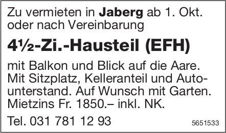 4½-Zi.-Hausteil (EFH), Jaberg, zu vermieten