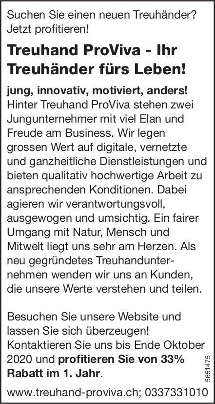Treuhand ProViva - Ihr Treuhänder fürs Leben!
