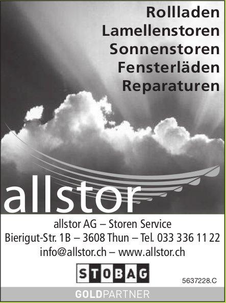 Allstor AG, Thun - Rollladen, Lamellenstoren, Sonnenstoren, Fensterläden, Reparaturen