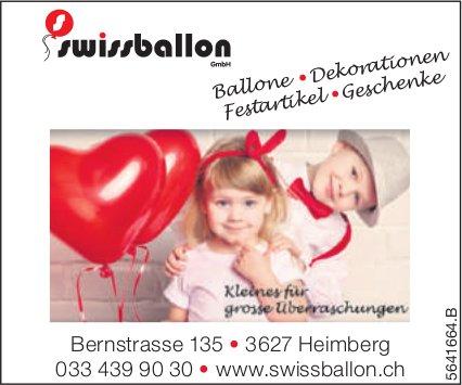 Swissballon GmbH, Heimberg - Ballone, Dekorationen, Festartikel, Geschenke