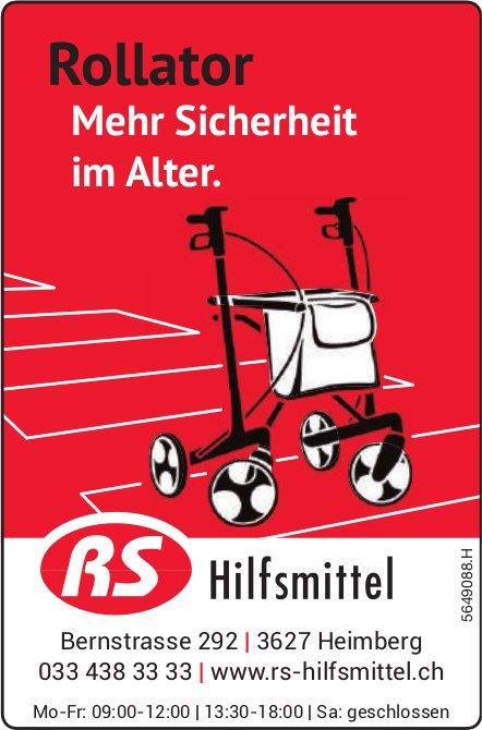 RS-Hilfsmittel, Heimberg - Rollator: Mehr Sicherheit im Alter.