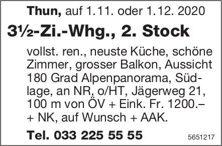 3½-Zi.-Whg., 2. Stock, Thun, zu vermieten