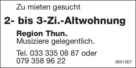 2- bis 3-Zi.-Altwohnung Region Thun, zu mieten gesucht
